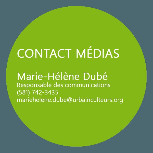 Contact médias: Marie-Hélène Dubé
