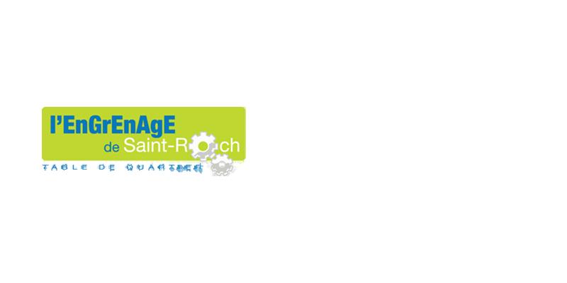Logo L'EnGrEnAgE de St-Roch, table de quartier